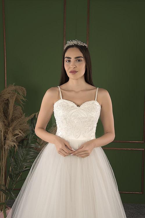 21511 Hand Beaded Wedding dress