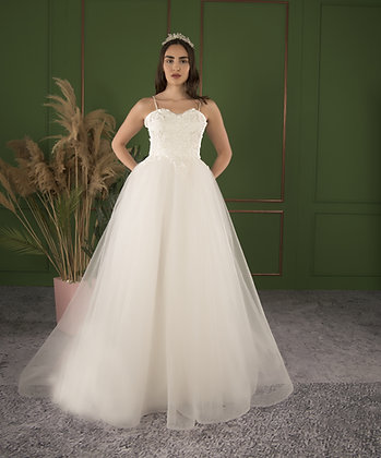 21510 Hand Beaded Wedding dress