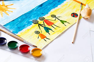 81562940-kids-painting-of-holiday-landsc
