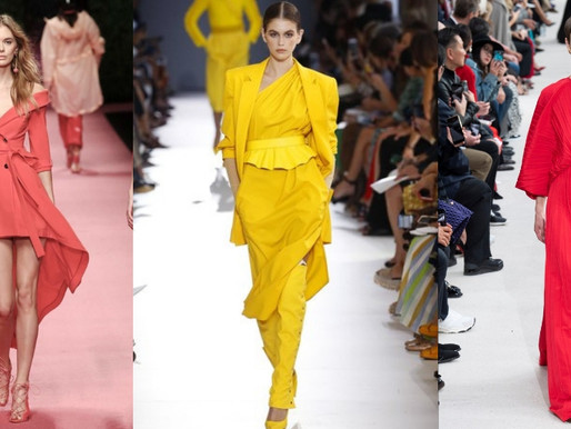 Colori moda PANTONE / MILANO FASHION WEEK, primavera / estate 2019