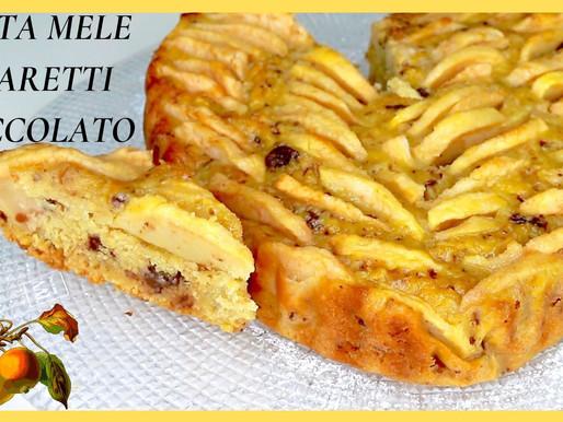 Torta mele, amaretti & cioccolato