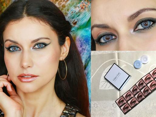 Trucco Occhi Azzurri con le lenti colorate Chiara Lens