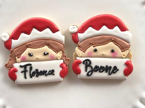 Large Customizable Elf Cookie