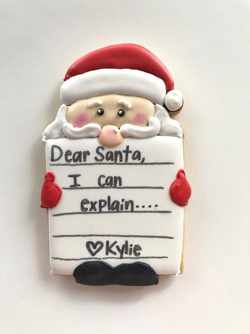 Santas List Cookie