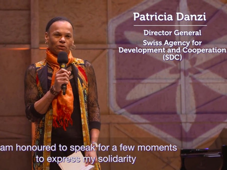 Patricia Danzi I Director General of the Swiss Agency for Development and Cooperation I Speech