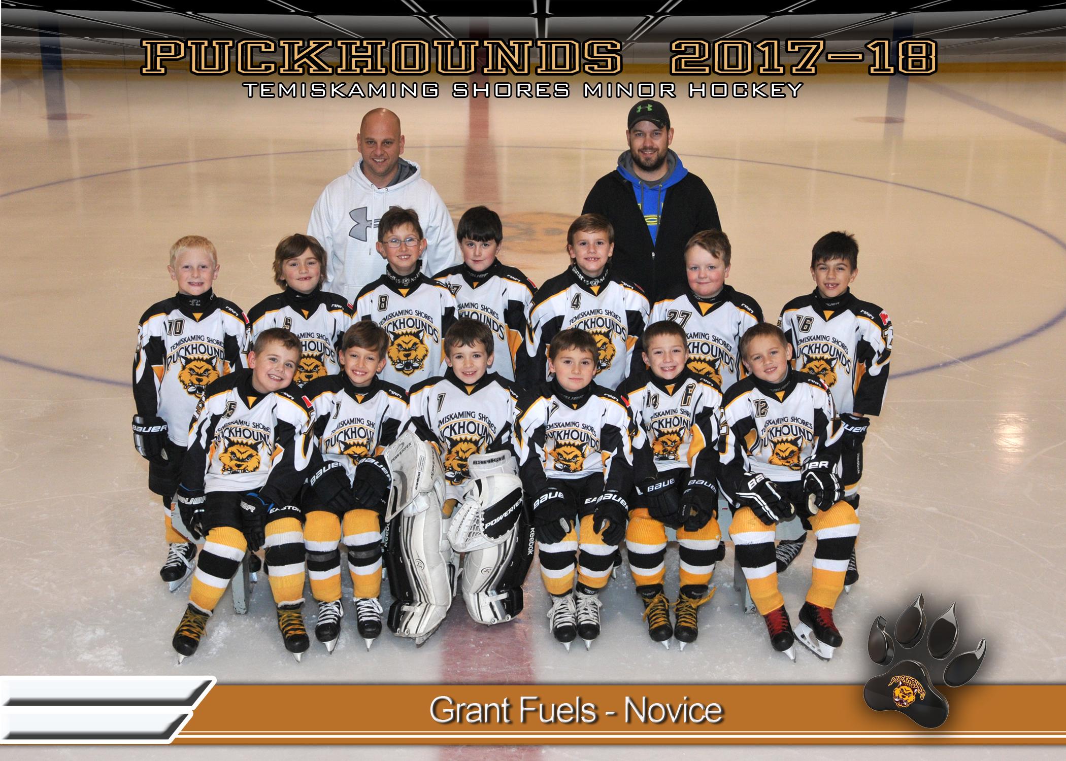 Grant Fuels Novice Hockey