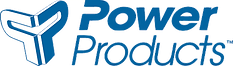 Power Products logo stacked - blue PMS29