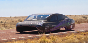 electric solar powered car