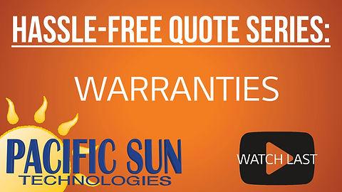 Solar Warranties by Pacifi Sun Technologies