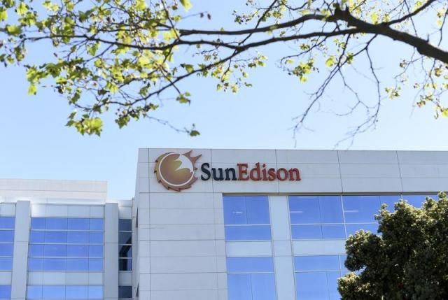 The headquarters of SunEdison is shown in Belmont, California April 6, 2016.