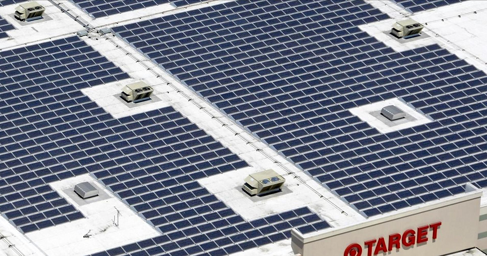 Target with Solar Panels