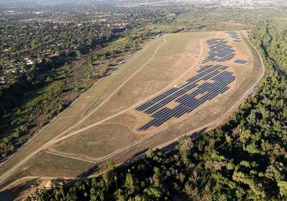 Riverside's Tequesquite Solar Project is built on the city's former 125-acre landfill that features enough solar panels to power 2,250 homes.