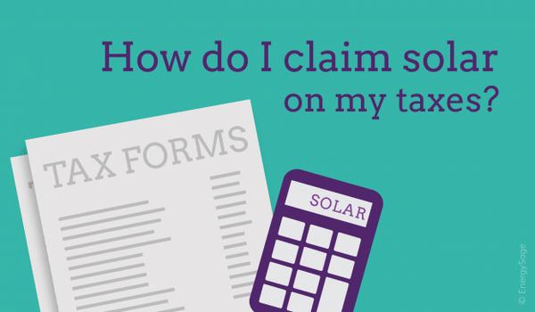 How do I claim solar on my taxes?