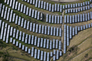An array of solar panels in Oakland, Calif. The Golden State often sells excess power at low prices or gives it away to other states.
