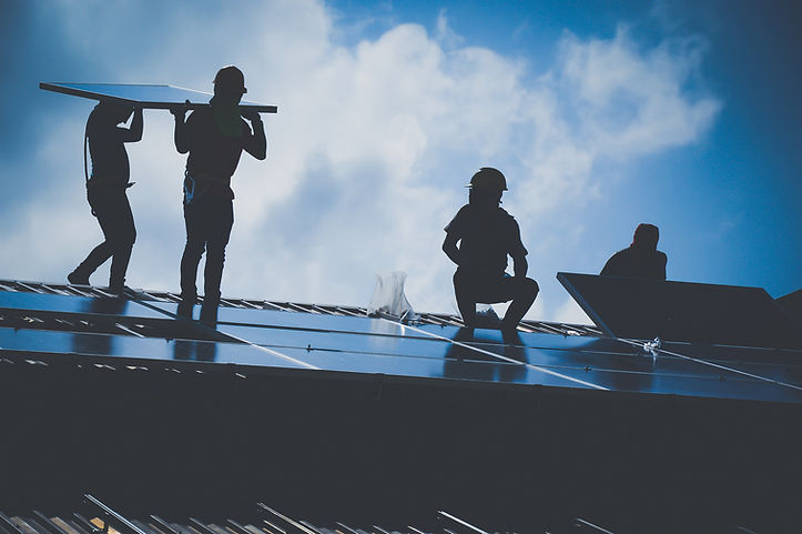 Installing a Solar Cell on a Roof, Shado