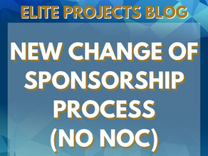 NEW CHANGE OF SPONSORSHIP PROCESS - NO NOC