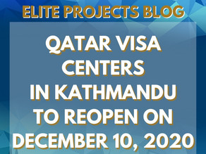 QATAR VISA CENTERS IN COLOMBO - SRILANKA TO RE-OPEN ON JANUARY 13, 2021