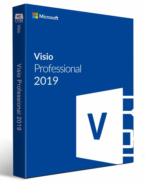 Microsoft Visio 2019 Pro - Professional Cartão Novo