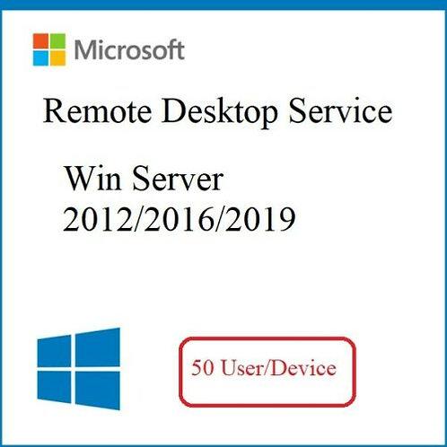50 User/Device CAL Remote Desktop RDS Licença (Windows Server 2012, 2016, 2019)