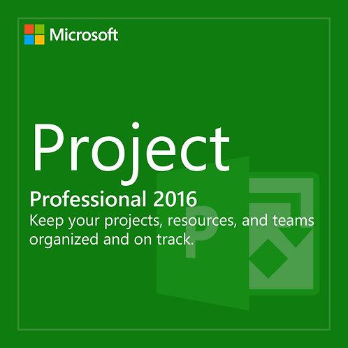 Ms Project 2016 Pro - Professional Cartão