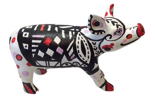 PP-D1425  Blanket on spotted mini pig
