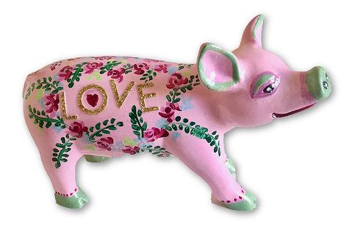 Love on pink mini pig - PP-R1426
