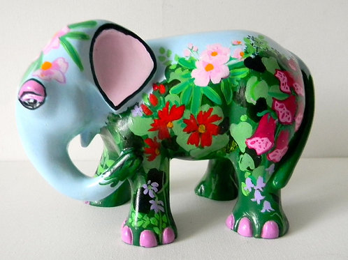 Flowers on Blue Elephant - PP-R3340