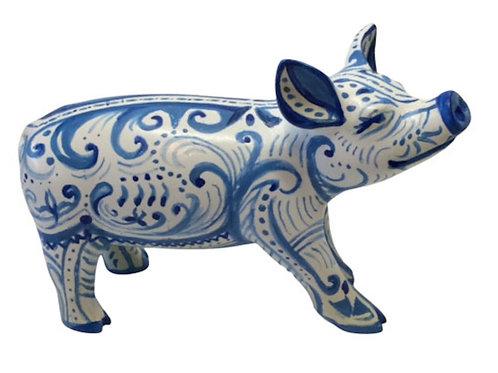 PP-D1413 Blue swirls mini pig