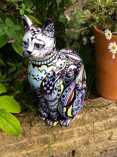 Doodle on large Cat - PP-D5071