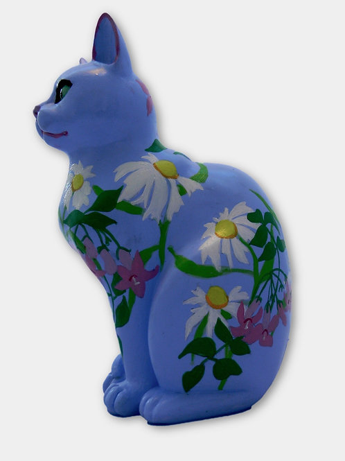 Floral on Blue Small cat - PP-R4024