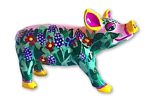Turquoise floral mini pig - PP-R1430