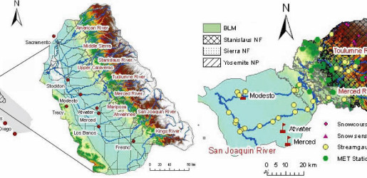 Merced Hydrology Map