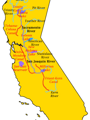 Central Valley Project Map