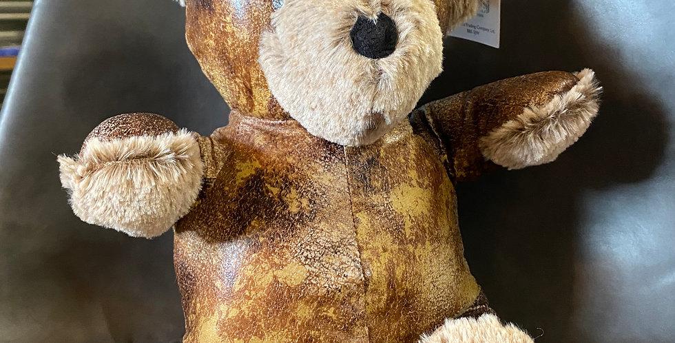 Leather Look Teddy Bear Doorstop