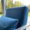 Thumbnail: Gatsby Teal Fabric Armchair
