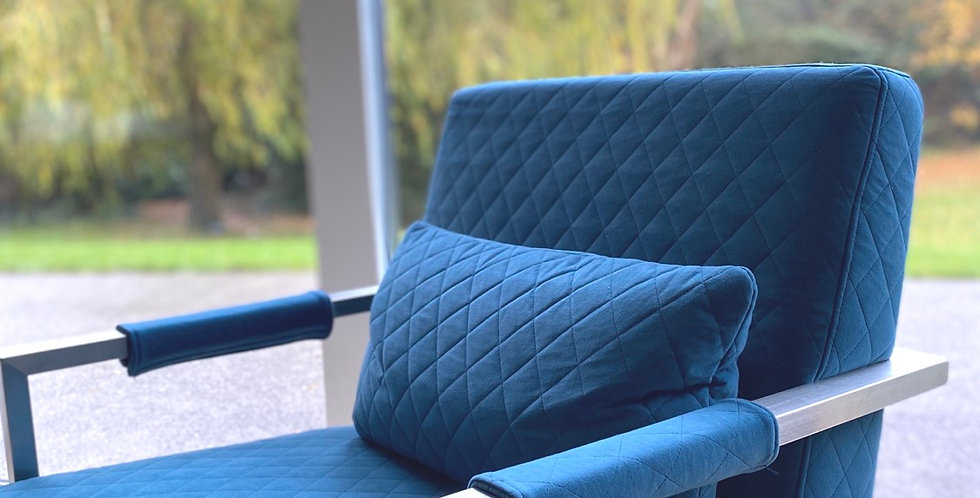 Gatsby Teal Fabric Armchair