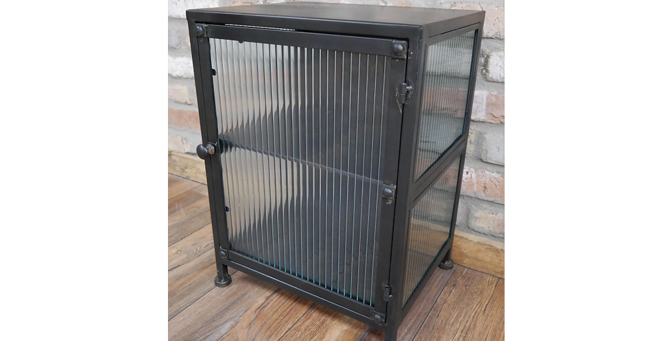 Side Metal & Glass Cabinet