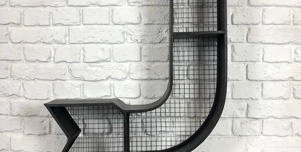 Industrial Arrow Shelf Display