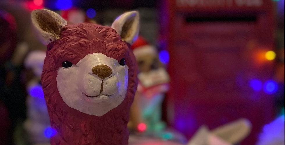 Pink Llama Satue
