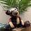 Thumbnail: Patchwork Check Bear Doorstop