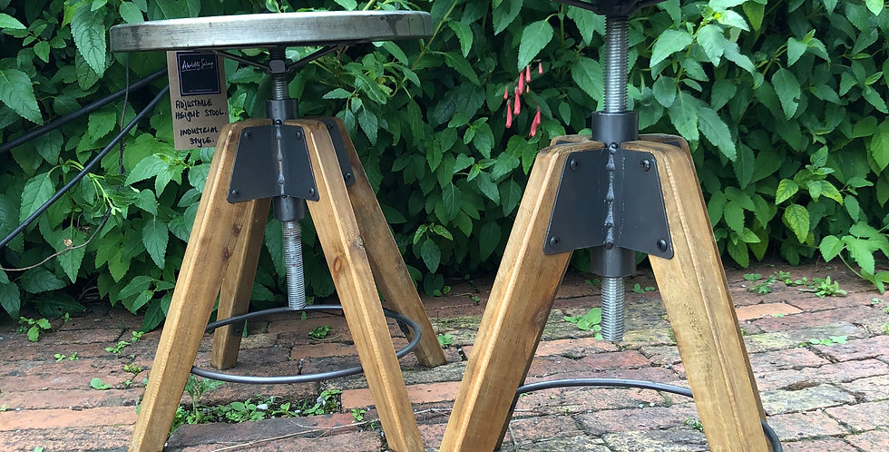 Pair of Industrial Style Stools
