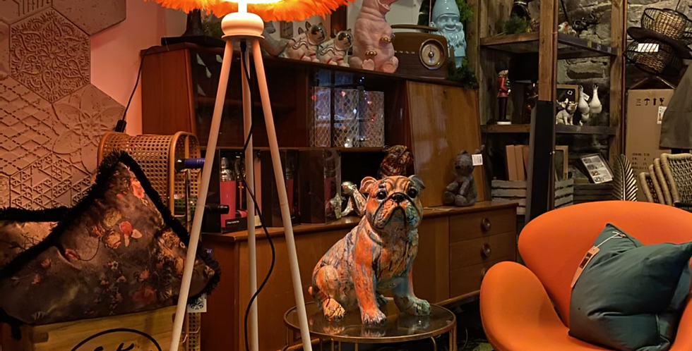Orange Goosefeather Floor Lamp