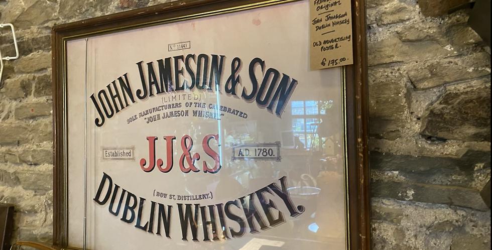 Framed Jameson Advertisement