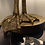 Thumbnail: Antique Gold Large Bird Leg Table Lamp with White Feather Shade