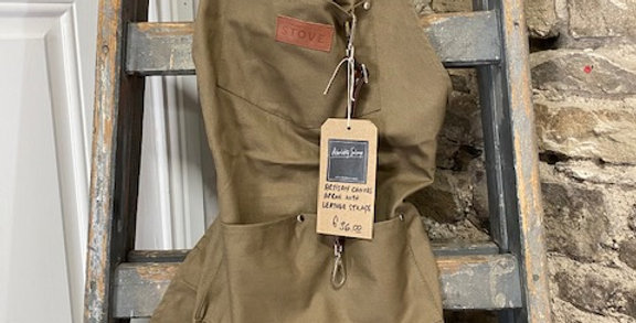 Artisan Canvas Apron with Leather Straps
