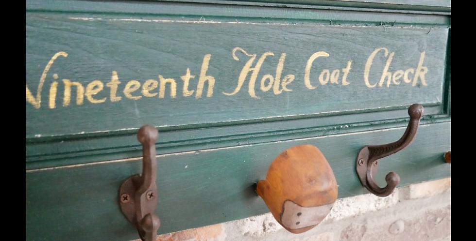 Golf 19th Hole Coat Rack