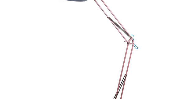 XL Angle Poise Floor Lamp : Pink