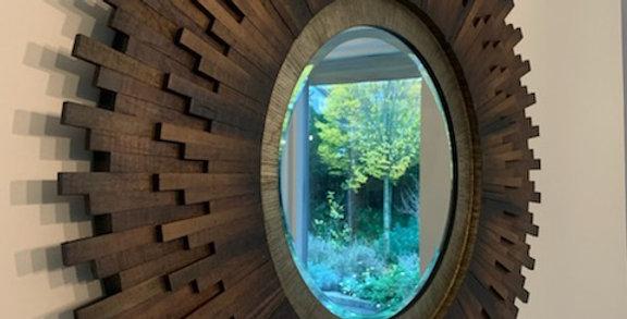 Retro Sunburst Wall Mirror