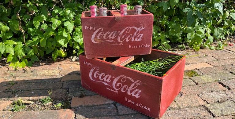 Set of 2 Cola storage boxes