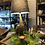 Thumbnail: Antique Gold Goose Lamp with Grey Shade